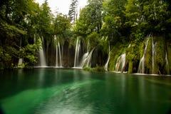 Cascate in Croazia, Plitvice Immagine Stock