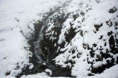Cascate del ghiacciaio di Kaunertal al parco naturale di Kaunergrat Immagine Stock Libera da Diritti