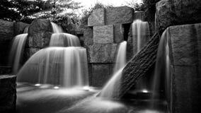Cascate del monumento di FDR Fotografia Stock