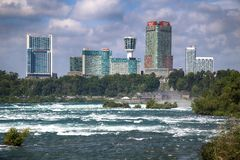 "Cascate del Niagara, †di U.S.A. ""29 agosto 2018: Bella vista di Niagar fotografie stock libere da diritti"