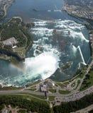 Cascate del Niagara aereo immagine stock libera da diritti