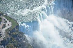 Cascate del Niagara aereo Stati Uniti del colpo fotografia stock libera da diritti