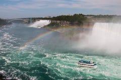Cascate del Niagara, ponte di pace Fotografia Stock