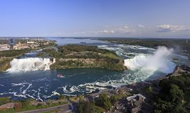 Cascate del Niagara, vista panoramica Fotografia Stock Libera da Diritti