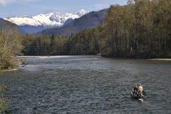 Cascate del nord andanti di pesca Fotografie Stock