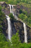 Cascate dell Acquafraggia. Famous waterfall in Alps Royalty Free Stock Photos