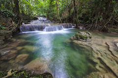 Cascate dell'Asia, Huai Mae Khamin Fotografia Stock