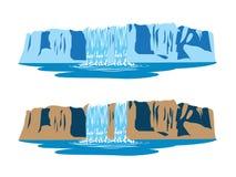 Cascate della montagna Immagine Stock