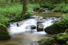Cascate di acqua Immagini Stock Libere da Diritti