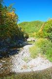 Cascate di caduta del fiume di Vanchin Milogradovka in Primory Immagine Stock