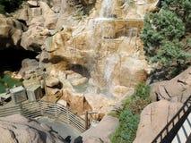 Cascate di caduta dell'acqua e dettaglio delle rocce Fotografia Stock Libera da Diritti