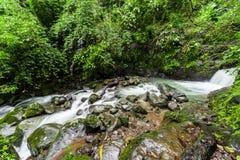 Cascate di Chorro Las Mosas, lungo Rio Anton in EL Valle de Anton Fotografia Stock Libera da Diritti