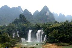 Cascate di Detian nel Guangxi, Cina Immagine Stock