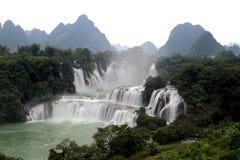 Cascate di Detian nel Guangxi, Cina Fotografia Stock