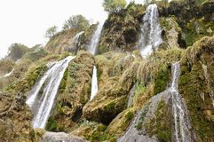 Cascate di Girlevik nella città di Erzincan della Turchia orientale fotografie stock