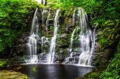 Cascate di Glenariff, Irlanda del Nord Fotografie Stock