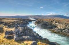 Cascate di Godafoss, Islanda Fotografia Stock