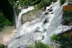 Cascate di Iguazu in Argentina e nel Brasile immagine stock