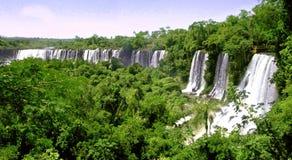 Cascate di Iguazu in Argentina e nel Brasile fotografia stock libera da diritti