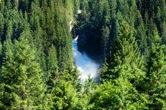 Cascate di Krimml Immagine Stock