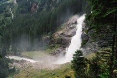 Cascate di Krimml in Austria Fotografia Stock Libera da Diritti