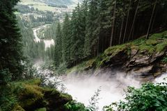 Cascate di Krimml in Austria Fotografie Stock Libere da Diritti
