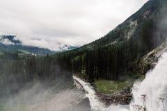 Cascate di Krimml in Austria Immagine Stock Libera da Diritti