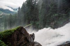 Cascate di Krimml in Austria Immagini Stock Libere da Diritti
