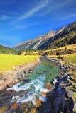 Cascate di Krimml del parco nazionale in Austria Fotografia Stock