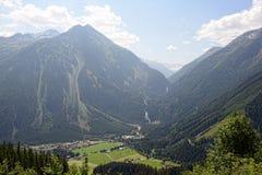 Cascate di Krimml nell'alto parco nazionale di Tauern (Austria) Fotografie Stock