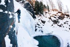 Cascate di Lillaz, Cogne (Val d'Aosta) - Italia Copyright © 201 Immagini Stock