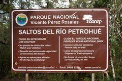 Cascate di Petrohue, Cile Fotografie Stock