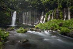 Cascate di Shiraito nel Giappone Fotografia Stock Libera da Diritti