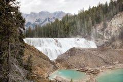 Cascate di Wapta, vicino a dorato, BC, il Canada Fotografia Stock Libera da Diritti