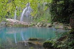 Cascate e lago blu - parco di Kursunlu Immagine Stock Libera da Diritti