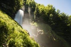 Cascate famose Giessbach nel Bernese Oberland, Svizzera Fotografia Stock Libera da Diritti