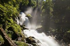 Cascate famose Giessbach nel Bernese Oberland, Svizzera Fotografia Stock
