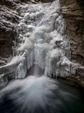 Cascate, Johnston Canyon Fotografie Stock Libere da Diritti