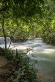 Cascate in Kuang Si Falls Fotografie Stock Libere da Diritti
