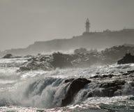 Cascate nella costa Fotografie Stock