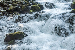 Cascate nelle montagne Fotografia Stock