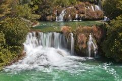Cascate sosta nazionale, Croatia di Krka Immagini Stock Libere da Diritti