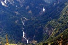 Cascate sul passaggio di Gerlos, alpi austriache, Austria di Krimml Fotografia Stock Libera da Diritti