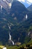 Cascate sul passaggio di Gerlos, alpi austriache, Austria di Krimml Fotografia Stock