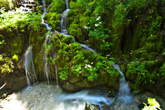 Cascate Varone. Waterfall in mountains, North Italy, Varone Royalty Free Stock Photo