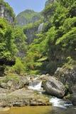 Cascate vicino al fiume di Xiaofeng Fotografia Stock