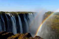 Cascate Victoria nello Zimbabwe Immagini Stock Libere da Diritti