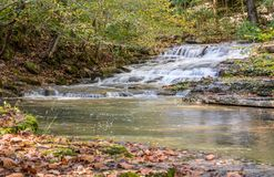 Cascding waterfall in Kentucky Royalty Free Stock Photos