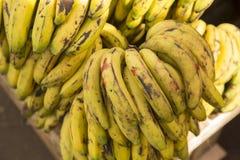 Caschi di banane maturi Fotografia Stock Libera da Diritti