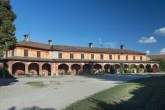 Cascina Sedone (Pavia, Italy). The historic Cascina Sedone, old typical farm near Pavia (Lombardy, Italy stock photography